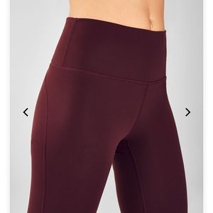 Fabletics burgundy leggings